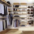 Верхний несущий рельс - Применение в гардеробной