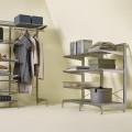 Задняя ограничительная планка для полиці - Застосування в гардеробній