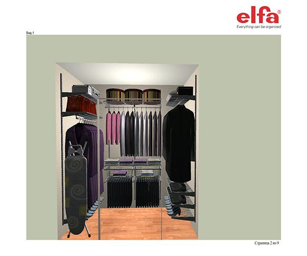 Пример гардеробной на заказ для частного дома