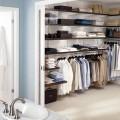 Кронштейн для полиці ДСП з пазом - Застосування в гардеробній