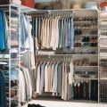 Роздільник для сітчатої полиці - Застосування в гардеробній