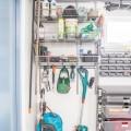 Выдвижная меш-корзина 450мм, графит - Применение в гаражe