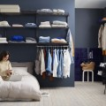 Меш корзина для декор рамок, графит - Применение в спальне