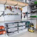 Висувний вішак  під сітчату полицю - Застосування в гаражe