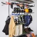 Штанги для вішаків та аксесуарів - Застосування в гаражe