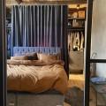 Навесная направляющая, графит - Применение в спальне