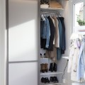 Полка для обуви одинарная, ширина 605мм - Применение в шкафах-купе