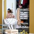 Выдвижная полка для обуви под каблук, ширина 450 и 600мм - Применение в детской
