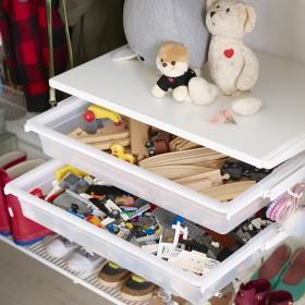 Дитяча кімната. Шафа-купе(кошики)