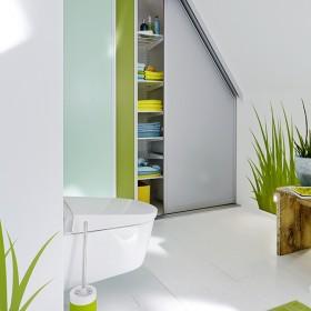 Шафи-купе в ванних кімнатах