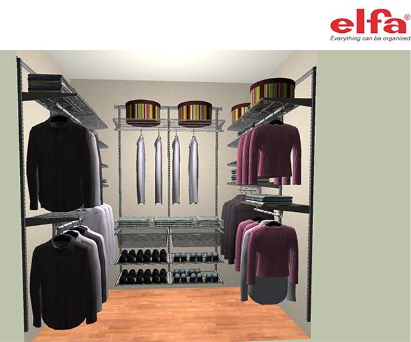 Гардеробна система зберігання Elfa