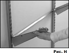 Монтаж настенной гардеробной системы Elfa