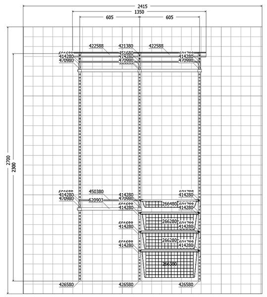 Шкаф-купе схема